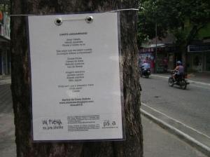 Poesia em árvore de Governador Valadares (MG)